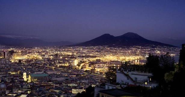 Panorama. Udsigt til Vesuv.