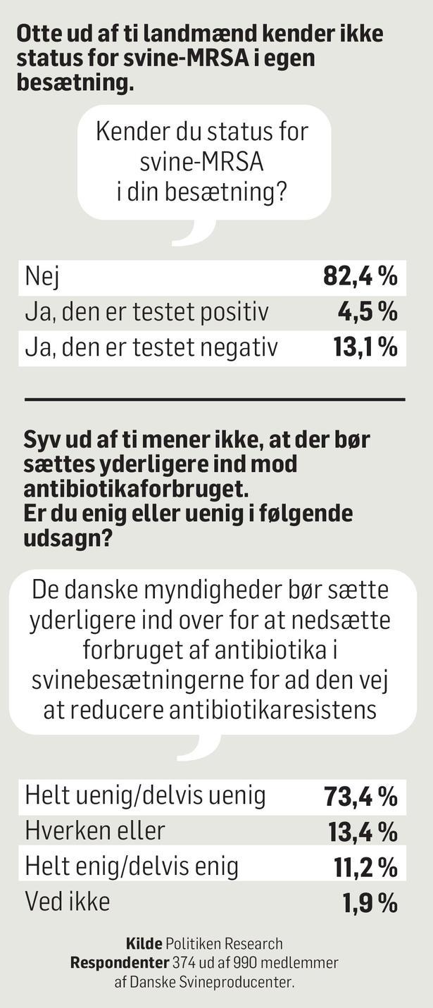 landmænd tager let på bakteriefaren i svinestaldene politiken dk