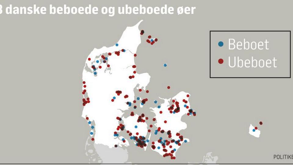 danske øer antal