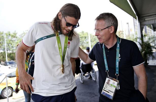 OL i Rio 2016 - Håndboldpressemøde ved den olympiske by. Mikkel Hansen og Landstræner Gudmundur Gudmundsson.