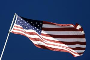 Stars and stripes. Det amerikanske flag, USA.
