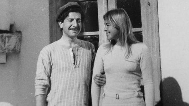 Leonard Cohen og Marianne Ihlen på et udateret billede.