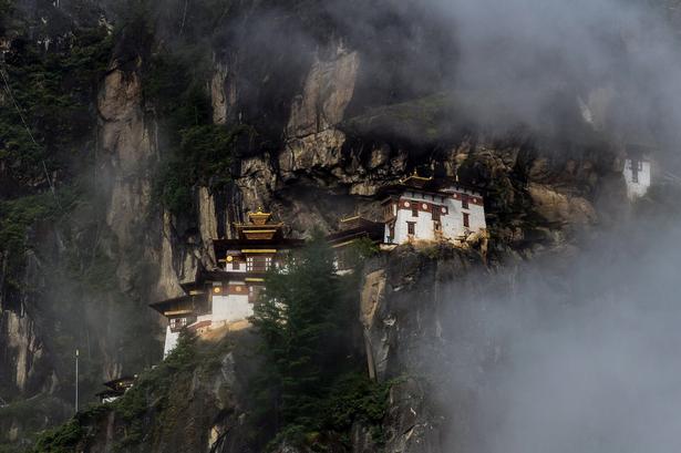Udsigten er fantastisk ved et af Bhutans helligste steder Paro Taktsang.