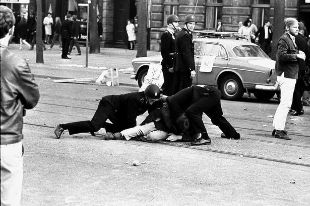 Det gik voldsomt til, når unge i København demonstrerede mod Vietnam-krigen.